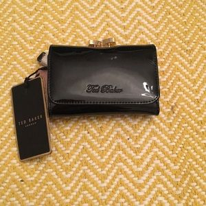 TED BAKER - Black Patent Leather Wallet - NWT